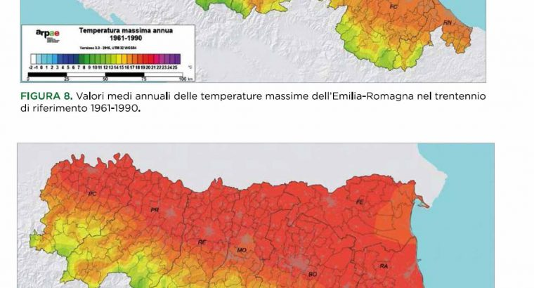 Climate Change Overview in Modena (Emilia Romagna, Italy) Area