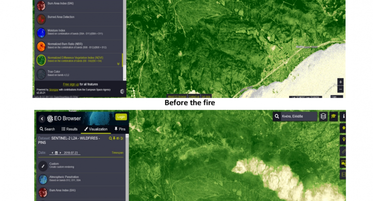 An investigation of flash floods and wildfires in west Attica